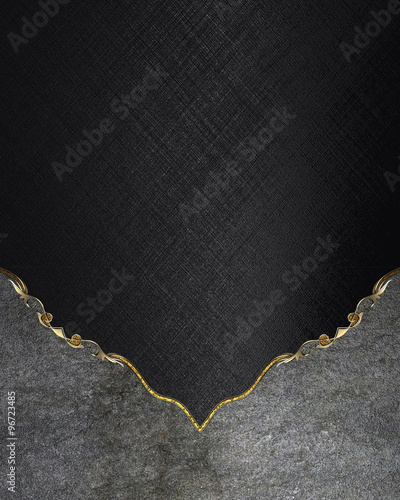 The Nameplate Of Cement On Black Background Element For Design