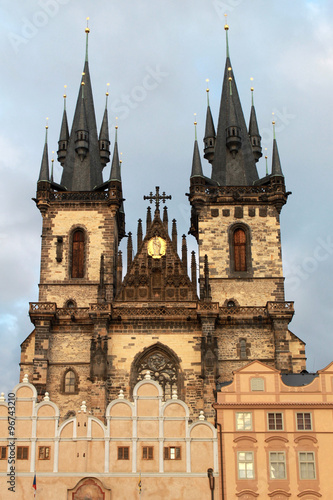 Staande foto Praag Church of Our Lady in front of Tyn, Prague