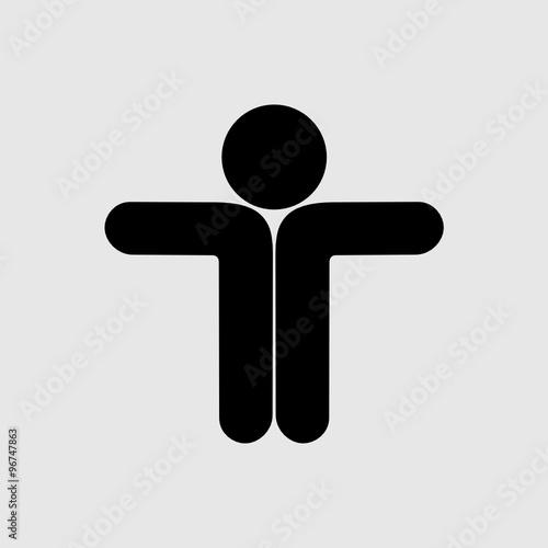 Fototapeta logo człowiek obraz