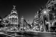 Gran Via In Madrid, Spain, Eur...