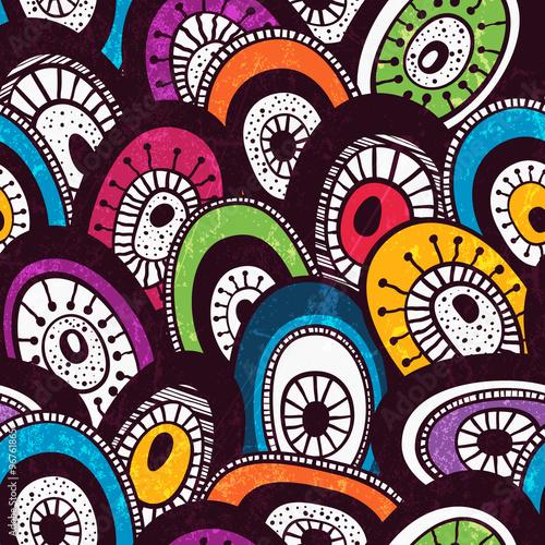 Photo  Colorful seamless pattern