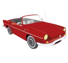Cabriolet Vintage Rouge