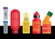 Bottles of ketchup, mayonnaise and mustard vector