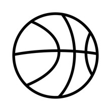 Basketball Line Art Icon For S...
