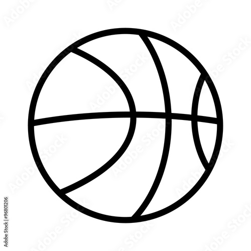 Photo  Basketball line art icon for sports apps and websites