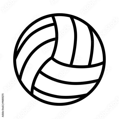 fototapeta na lodówkę Volleyball ball line art icon for sports apps and websites