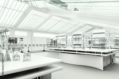 Fotografie, Obraz  Clean modern white laboratory