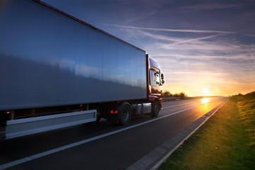Fototapeta Truck on the road