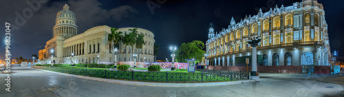 Photo  Cuba grand Teatro Capitol Havanna Nacht