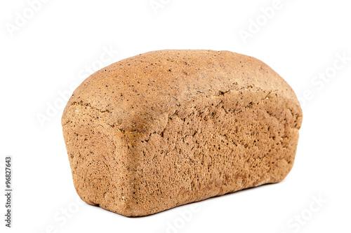 Fotografie, Obraz  Loaf of bread on white background.