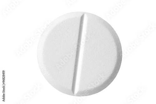 Fotografia  Pill isolated on white background with clipping path