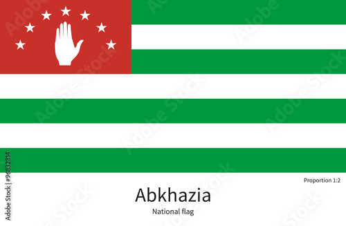 National flag of Abkhazia with correct proportions, element, colors Canvas Print
