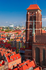 FototapetaSt Mary Church in Gdansk, Poland