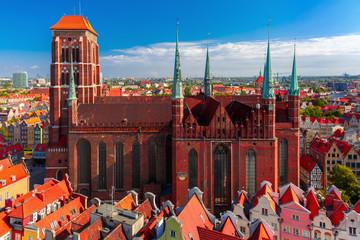 Panel Szklany Podświetlane Gdańsk St Mary Church in Gdansk, Poland