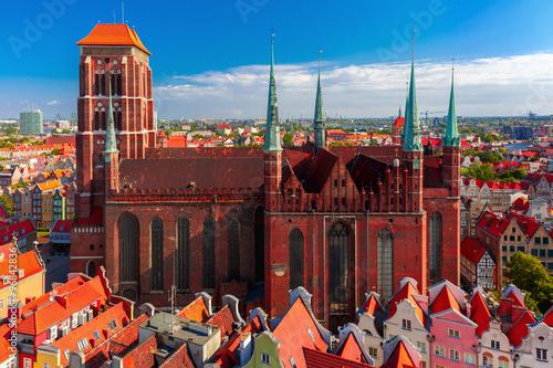 fototapeta na szkło St Mary Church in Gdansk, Poland