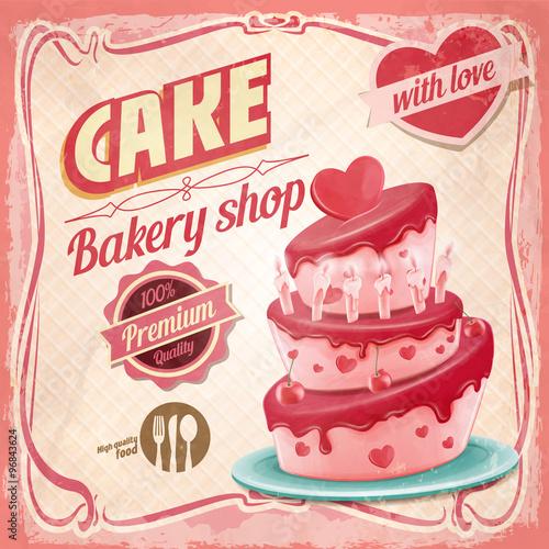 In de dag Kinderkamer CAKE HPPY BIRTHDAY