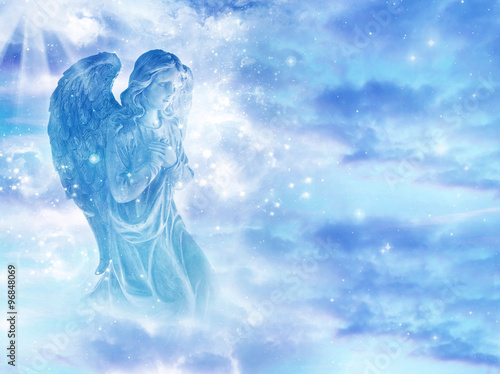 mystical angel in sky Wallpaper Mural