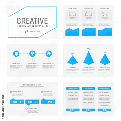 Vector template for multipurpose presentation slides with graphs and vector template for multipurpose presentation slides with graphs and charts infographic element and symbol icon toneelgroepblik Images