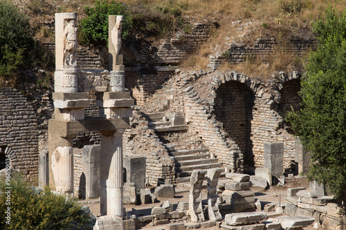Fotografie, Obraz  Temple of Domitian in Ephesus Ancient City