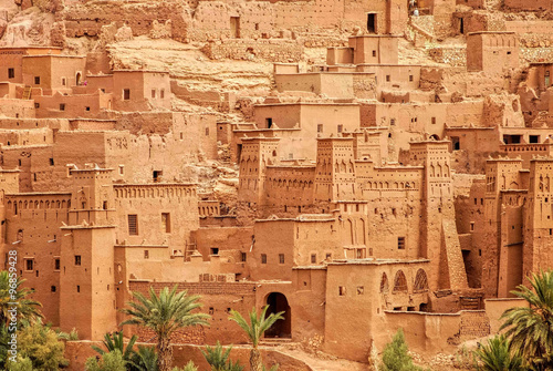 Canvas Prints Morocco Clay kasbah Ait Benhaddou, Morocco