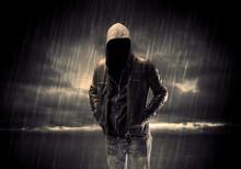 Anonymous Terrorist In Hoodie ...