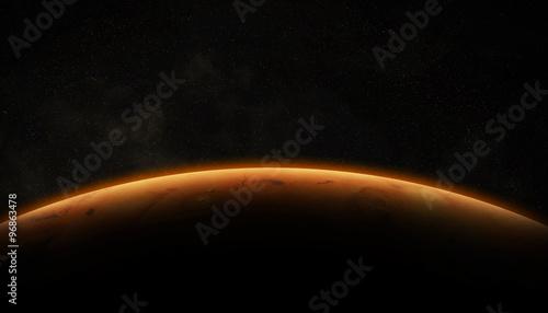 Stampa su Tela View of planet Mars