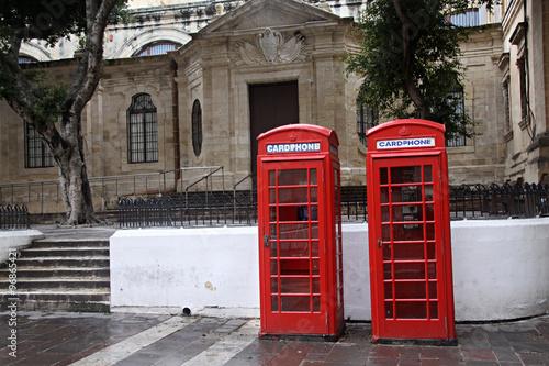 Papiers peints Rouge, noir, blanc Cabinas telefónicas en Malta.
