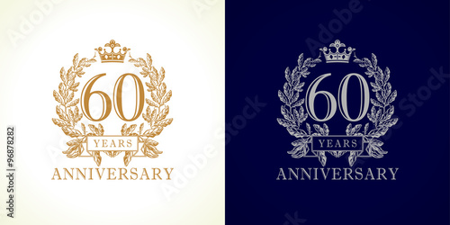 Photographie 60 anniversary luxury logo