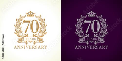 Fototapeta  70 anniversary luxury logo