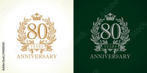 Fotografia  80 anniversary luxury logo