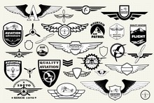 Set Retro Emblems, Design Ele...