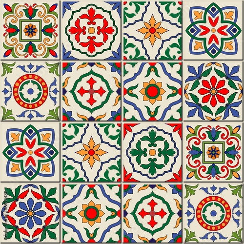 La pose en embrasure Tuiles Marocaines Gorgeous seamless pattern . Moroccan, Portuguese tiles, Azulejo, ornaments.