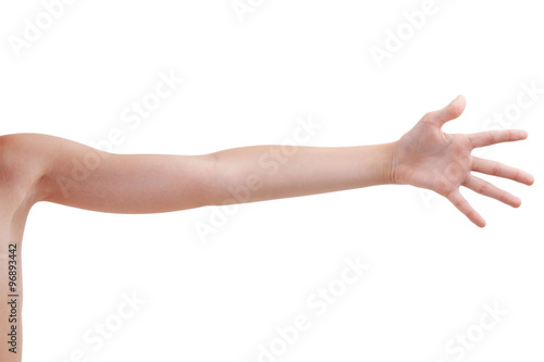 Foto  Stretched human hand