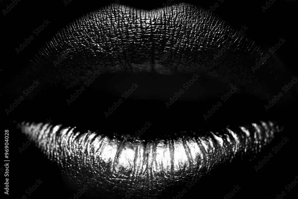 Fototapeta Female lips closeup