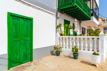 Typical Canarian House With Gr...