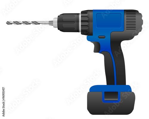Fotografie, Obraz  Electric drill and bit