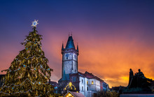 Prague Christmas Market On Old...