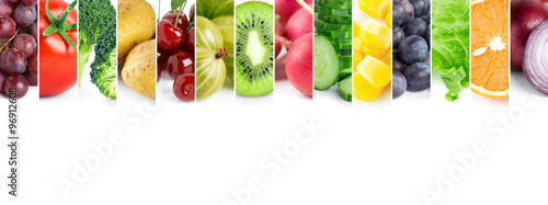 Poster Légumes frais Fresh fruits and vegetables