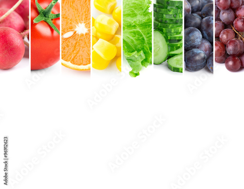 Fresh color fruits and vegetables © seralex