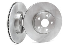 Brake Discs On A White Background. Car Parts