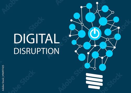 Fototapeta  Digital disruption concept