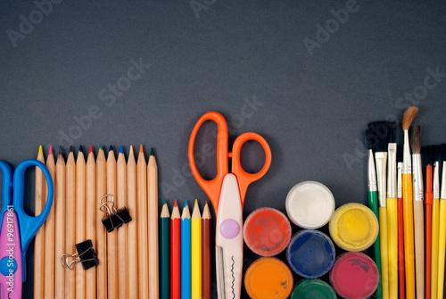 Fototapeta Set of art tools. obraz na płótnie