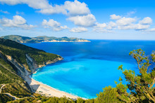 View Of Beautiful Myrtos Bay A...
