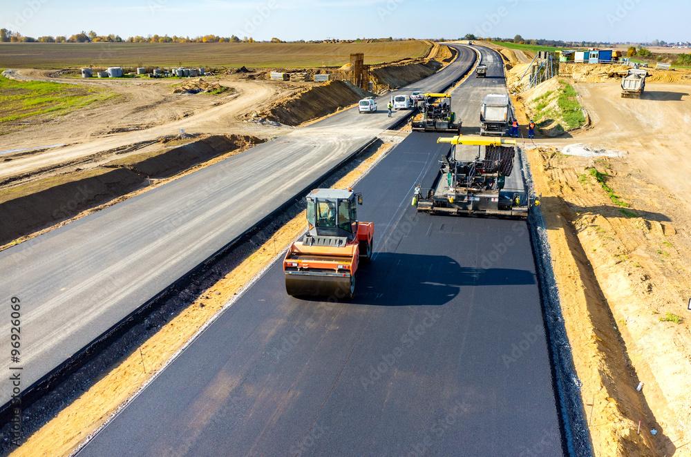 Fototapeta New road construction