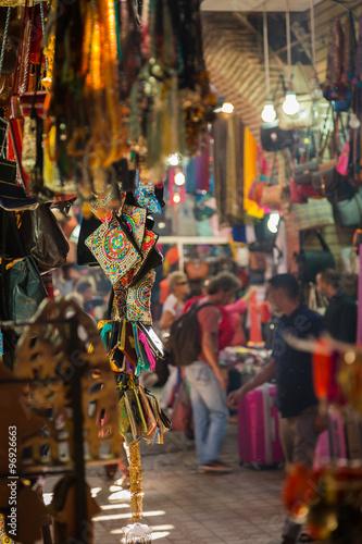 Fototapeta In the souk of Marrakesh Medina obraz na płótnie