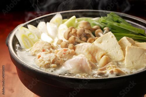 Fotografie, Obraz  鶏の寄せ鍋 Chicken hot pot