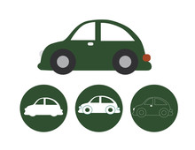Vintage Beetle Vector Icons