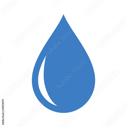 Fototapeta Fresh rain water droplet flat icon for apps