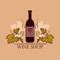 FototapetaHand drawn Wine label