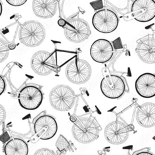 recznie-rysowane-wektor-wzor-z-rowery-miejskie